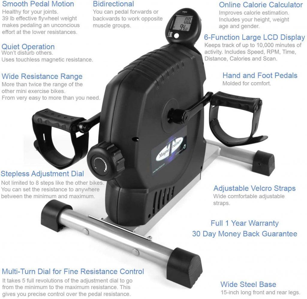 MagneTrainer-ER Mini Exercise Bike Features