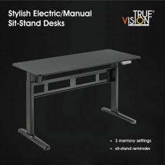 True Vision Pro Standing Desk TVS04-22DB-BK Review