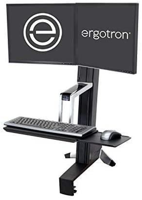 Ergotron WorkFit S Dual Sit-Stand Workstation Converter