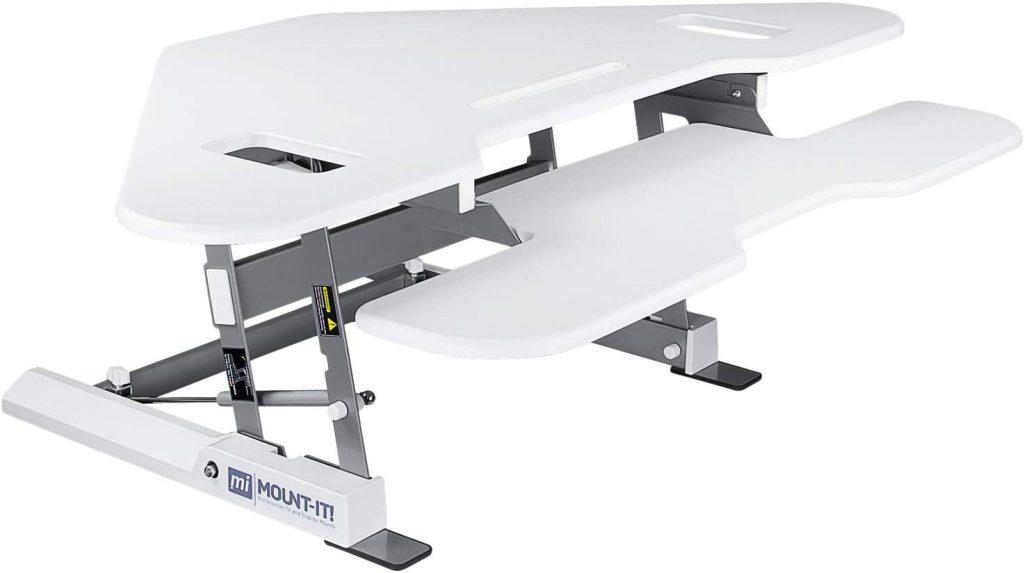 Mount It Height Adjustable Corner Standing Desk Converter Review